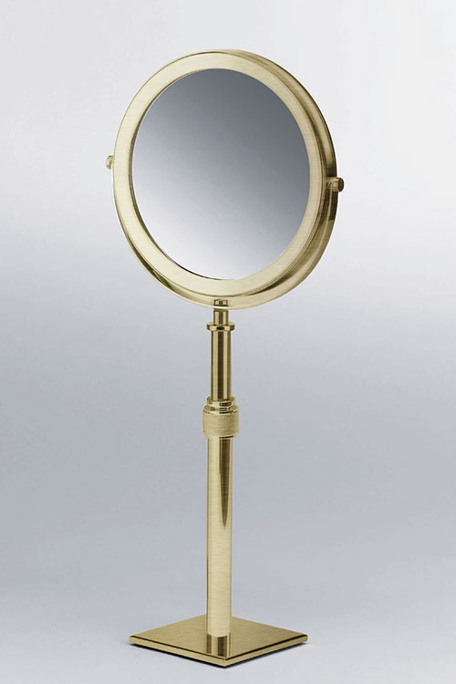 brass bathroom mirrors magnifying make up amp mirror moca brass bathroom 12158