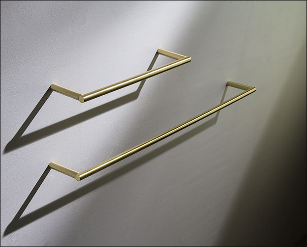 Brushed Brass Towel Hanging Rail Amp Bars Moca Bathroom