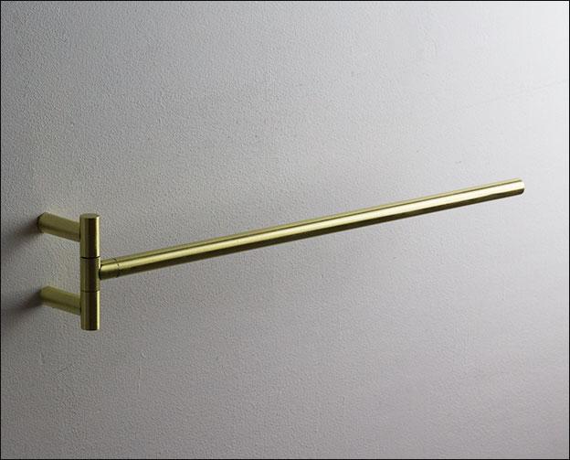 Hinged Towel Bars : Brass adjustable hinged towel rails moca bathroom