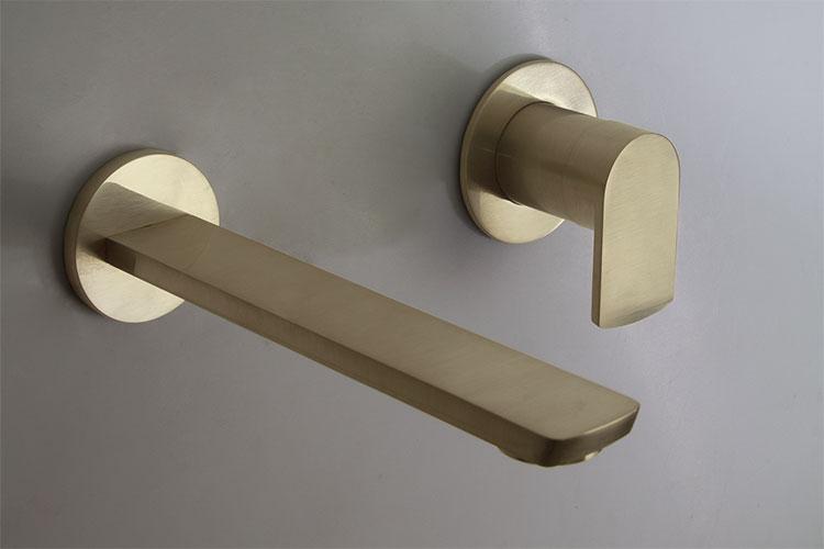 Wall Mounted Brass Basin Tap Mode Brass Bathroom Taps