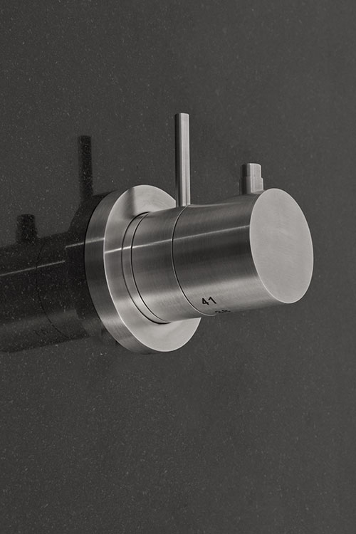 Noa Recessed Shower Valve Brushed Stainless Steel Taps