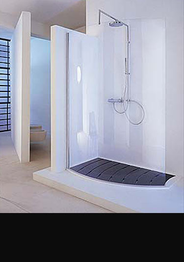 Beau Open Curve Walk In Shower ...