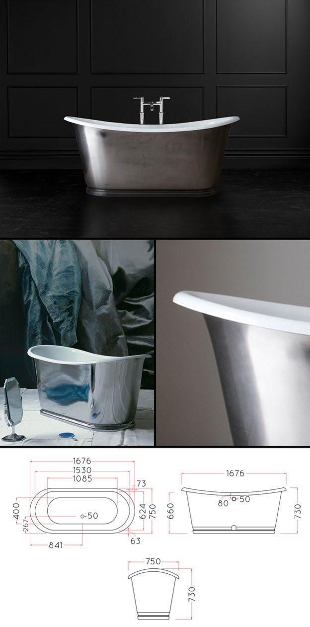 Bateau Bath | Cast Iron, Polished & Chrome Style on popular bathroom designs, best modern bathroom designs, bathtub designs,