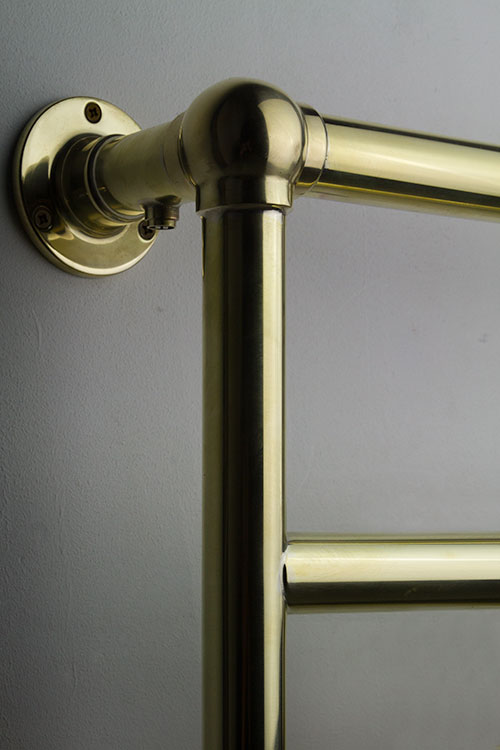 Ball Jointed Brass Towel Rail Traditional Brass Towel