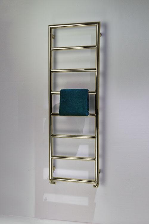 Loft Polished Brass Towel Radiator Brass Heated Towel Rails
