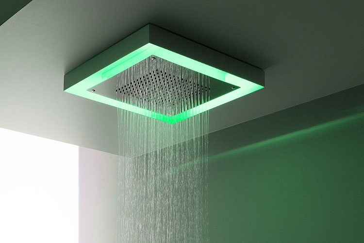 Rainbow Led Ceiling Shower Head Fixed Shower Heads