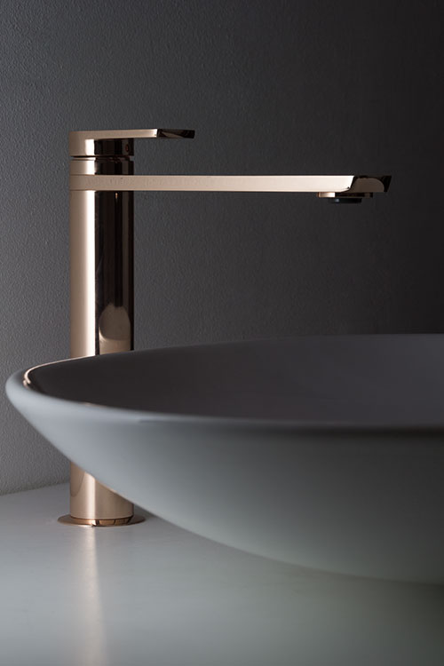Rose Gold Tall Amp Extended Basin Mixer Taps Kara Rose Gold