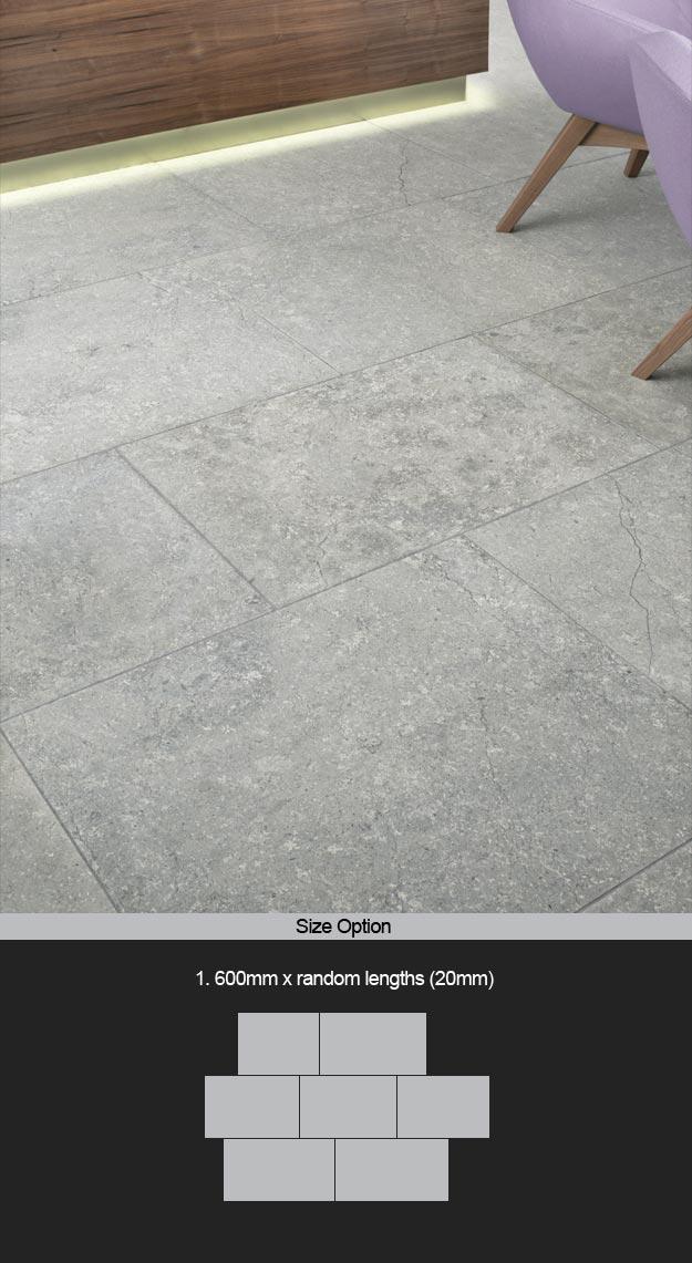 Light Grey Stone Flooring | Grey Limestone Tiles | Grey Stone Floor