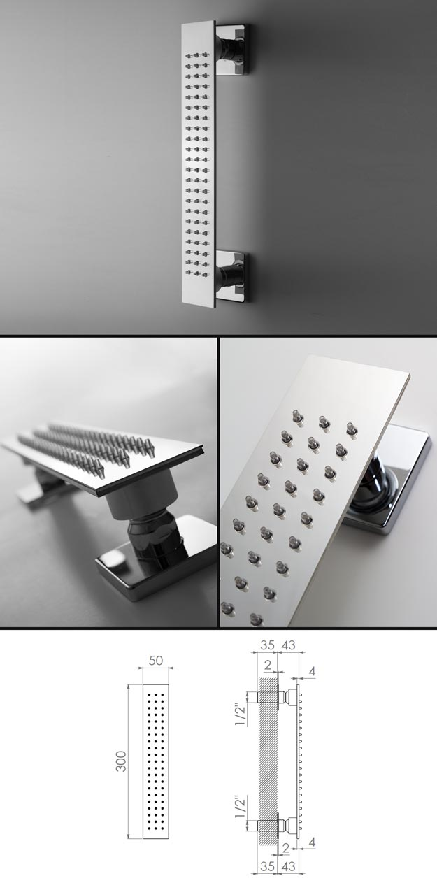 Slimm Shower Body Jet Bar | Stainless Steel Taps