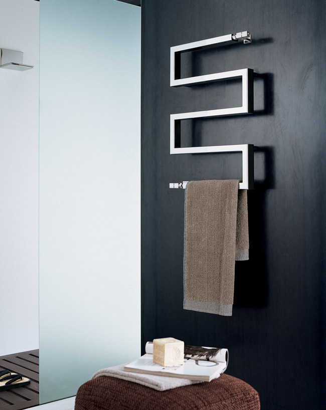 Bathroom Towel Radiator Cubic Snake Designer Towel Rail