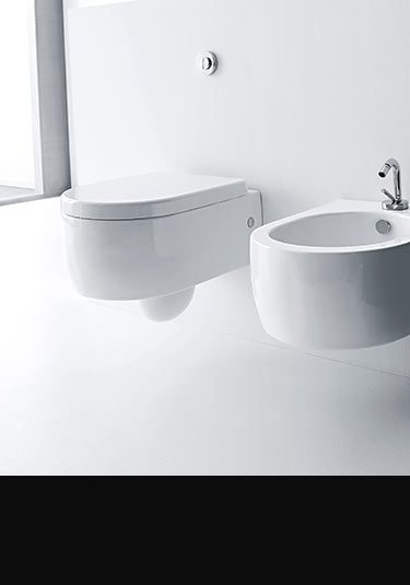 soft cube wall hung space saving toilet