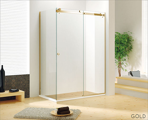 Frameless Sliding Shower Door, Shower Stall With Sliding Glass Doors