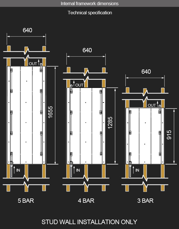 Copper Towel Radiators Heated Towel Bars Floating