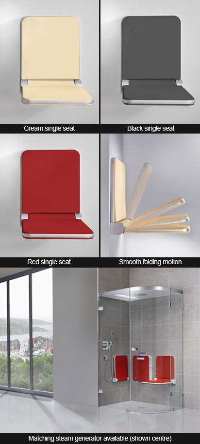 Steam Room Folding Seats Folding Shower Seat White