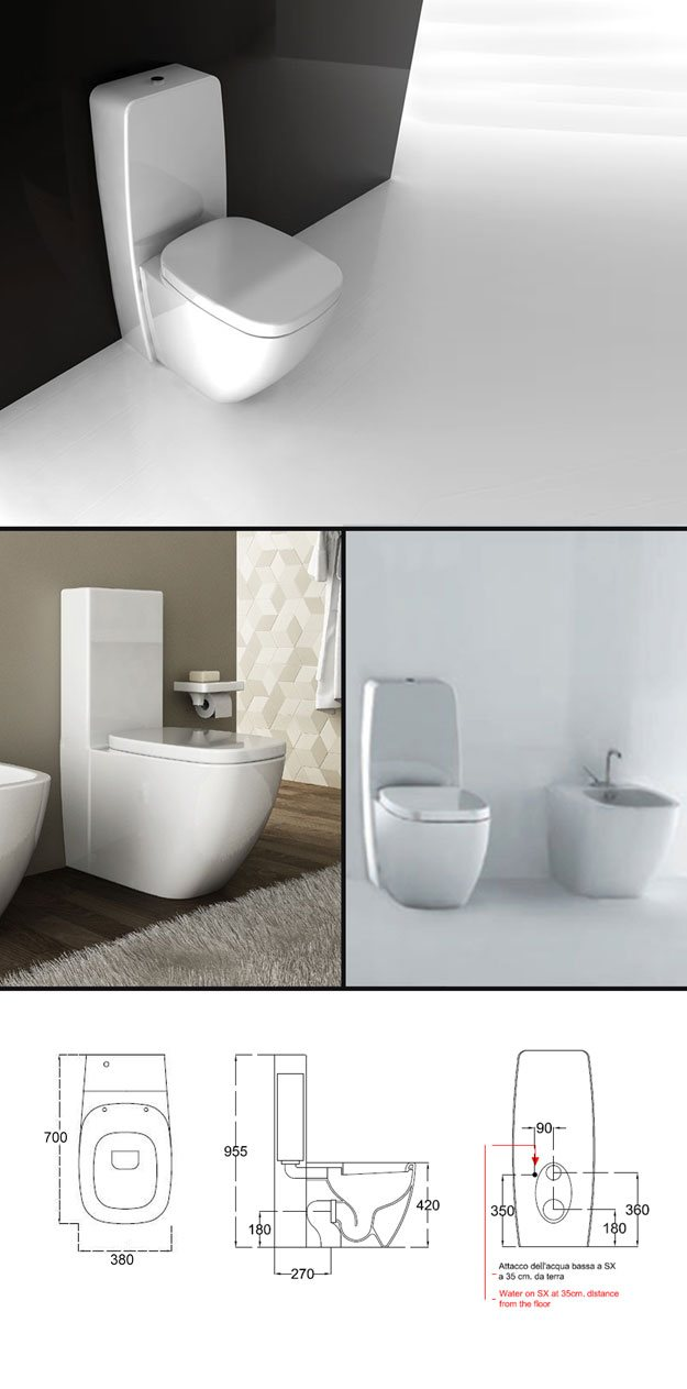 Suppliers - Afon Toilet and Cistern - Close Coupled WC