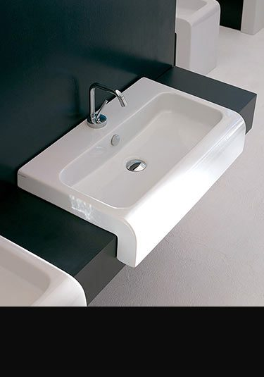This designer bathroom basin is available