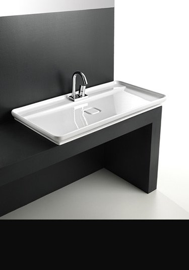 Flat Bathroom Sink : Counter Top Basin Counter Top Sinks Work Top Wash Basins ...