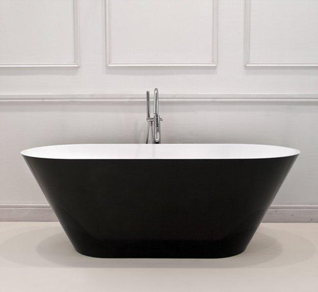 Vogue black freestanding bath livinghouse for Coloured free standing bath