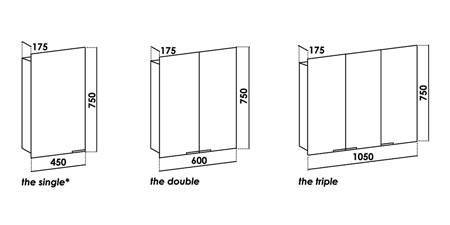 Bathroom on Bathroom Mirror Cabinets 417 Line Drawing Of Aluminium Bathroom