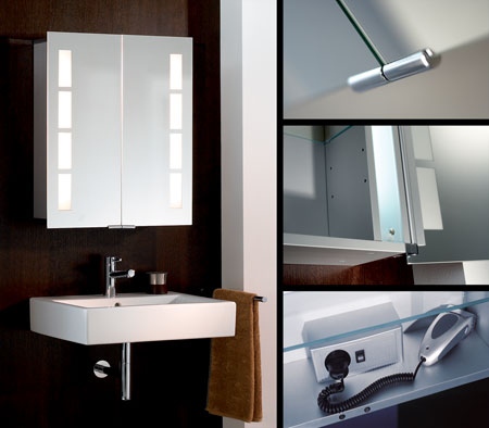 Bathroom Mirror Cabinet three hinged doors [73] - €164.00 : Low