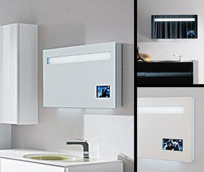 Illuminated Bathroom Mirror with built in TV