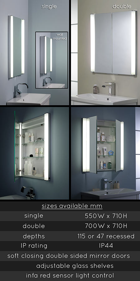 Built Into The Wall Bathroom Cabinet 62G