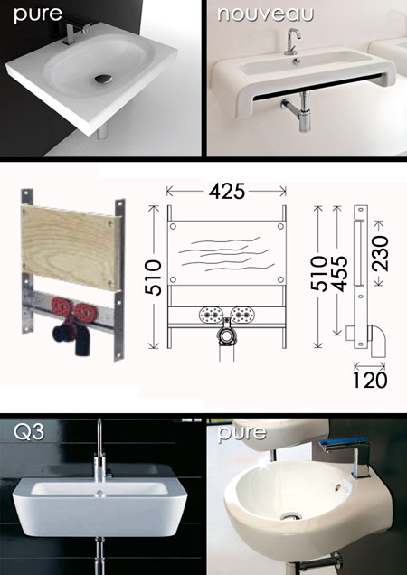 In Wall Basin Frame Basin Support Frame Basin Mounting