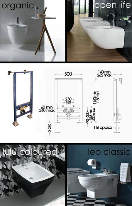 Bidet Installation Frames | Wall Hung Bidet Frame | Bidet Hanging Frame