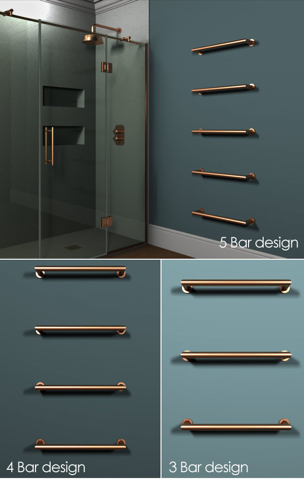 Copper Towel Radiators Heated Towel Bars Floating