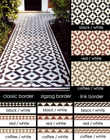 Traditional Geometric Encaustic Tiles For Victorian Floors