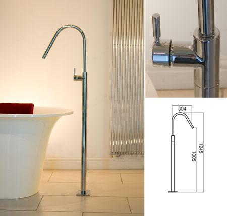 Fresh Freestanding Bath Tap Or Basin Filler Livinghouse