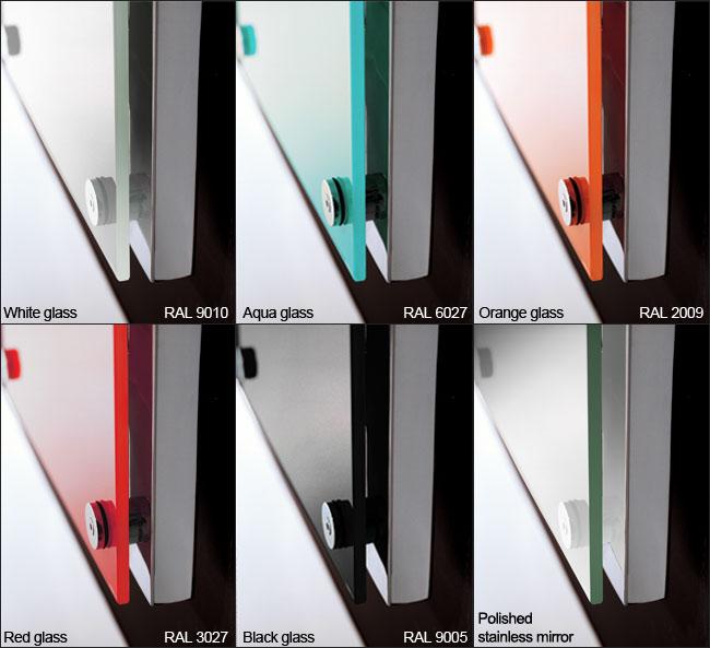 Karlo Glass Radiators In Black White Red Amp Aqua Glass