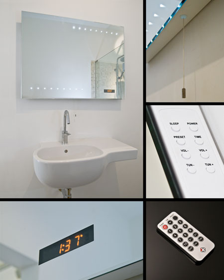 LED Bathroom Mirrors | Mirrors with LED Lights - Clock - Radio