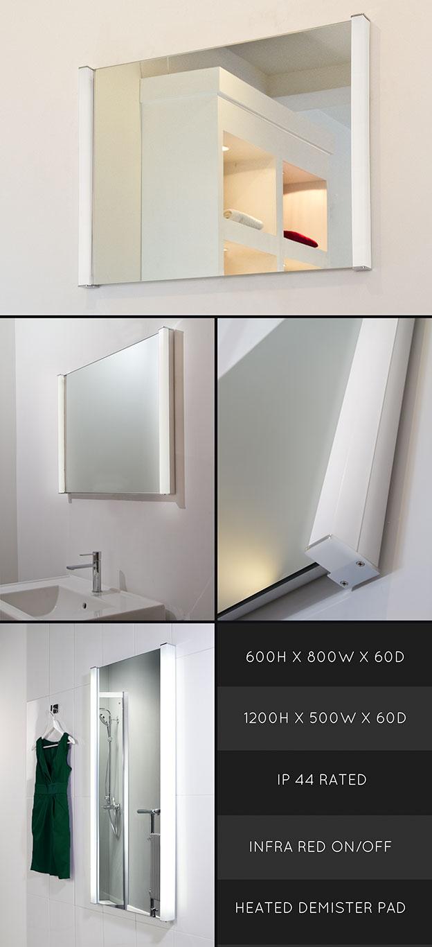 heated bathroom mirrors heated bathroom mirror with lights. Black Bedroom Furniture Sets. Home Design Ideas