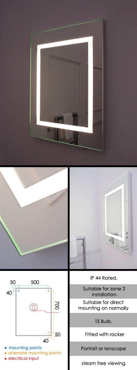 Unique Custom Made Steam Free Heated Mirrors