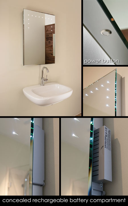 Re Chargeable Illuminated Bathroom Mirrors Led Bathroom