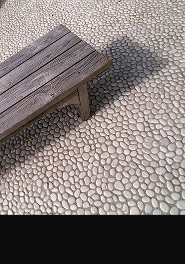 White Stone Pebbles For Floors And Walls 112J