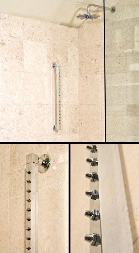Wall Mounted Shower Bar with Body Jets