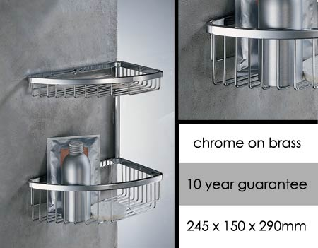 Corner Shower Caddy, Baskets & Luxury Shower Storage