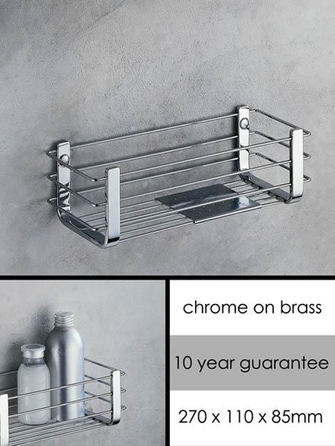 Rectangular & Square Shower Baskets for Shower Storage