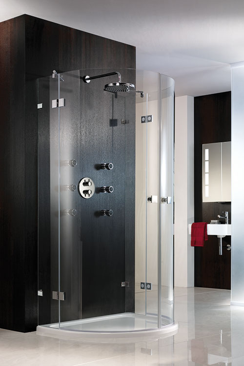 Frameless Shaped Round And Circular Shower Enclosures