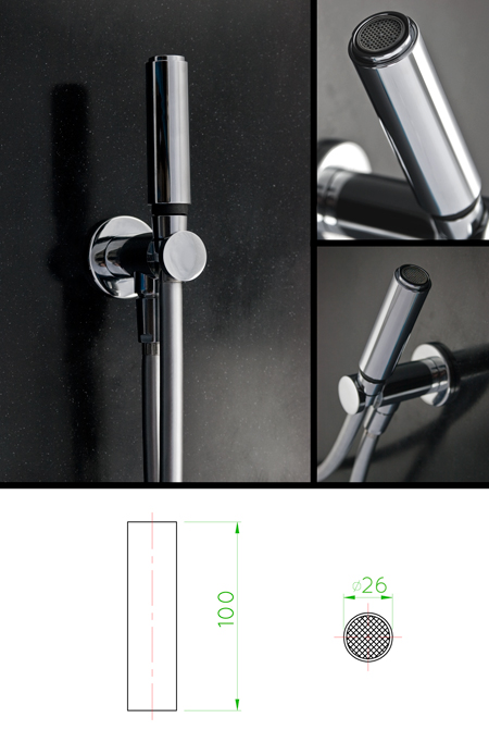 handheld douche shower head mic. Black Bedroom Furniture Sets. Home Design Ideas