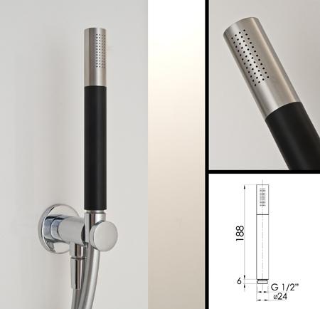Handheld Shower Head Black Stainless Steel Amp Chrome