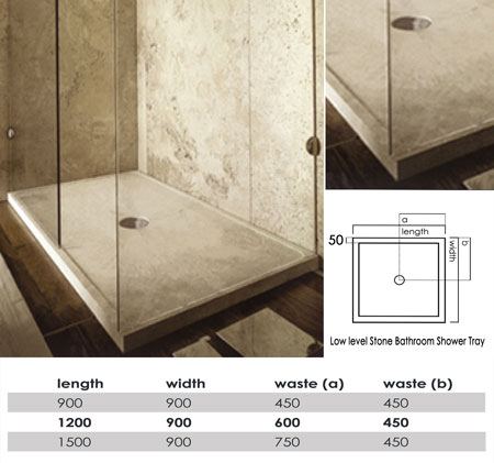 luxury stone shower tray 60v - Luxury Stone Showers