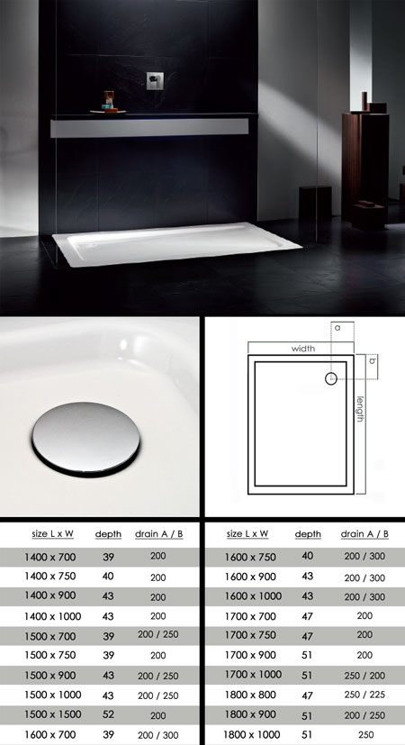 Big Skinny Low Profile Shower Tray (60L)