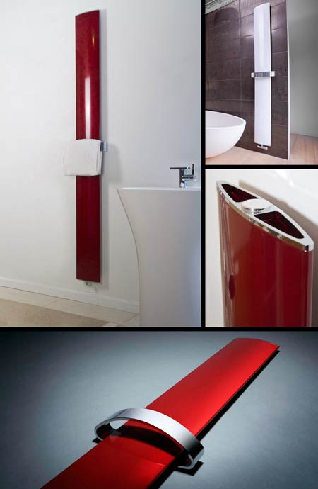 Aluminium Towel Radiator Amp Bathroom Radiator In Red Or White