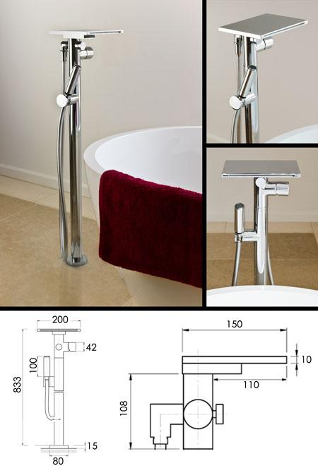 Waterblade Freestanding Waterfall Bath Tap Amp Shower