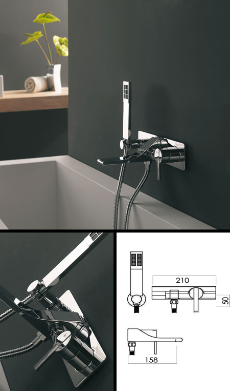 REM Wall Mounted Bath Tap with Shower | Livinghouse
