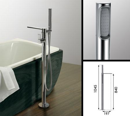 Loft Freestanding Bath Tap With Shower Attachment