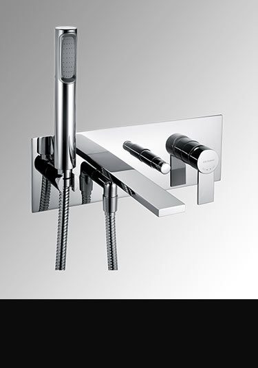 Captivating Loft Wall Mounted Bath Filler With Shower ...